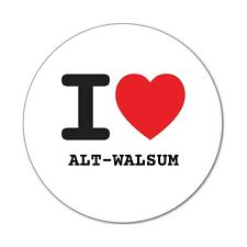 I love ALT-WALSUM - Aufkleber Sticker Decal - 6cm