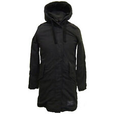 Superdry Shady Surplus Parka Washed Black Size S