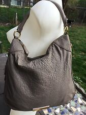 EUC Marc by Marc Jacobs Large Gray Lamb Leather Hobo/Shoulder Bag/Handbag