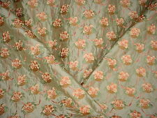 10+Y BEAUTIFUL COLEFAX FOWLER EMBROIDERED BASKET FLORAL SILK UPHOLSTERY FABRIC