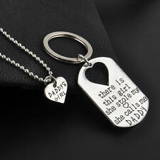 There is This Girl She Stole My Heart She Calls Me Daddy Necklace Key Ring Set