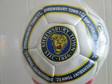 Shrewsbury Town 2012-2013 Squad Signed Football with FLT Charity Letter