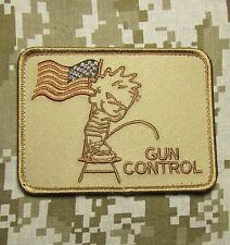 PISS ON GUN CONTROL USA SECOND 2ND AMENDMENT 3% NRA DESERT VELCRO MORALE PATCH