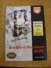 13/03/1994 Rugby League Programme: Bradford Northern v Leigh. This item is in ve