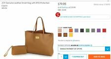 Classic Camel JM GENUINE LEATHER TOTE BAG W/ RFID WRISTLET ~MSRP $154 SOLD OUT!!
