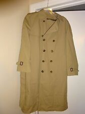 AWESOME Mens LONDON FOG Top Coat with Zip out Liner 38R Camel Double Breasted