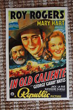 In Old Caliente Lobby Card Movie Poster Western Roy Rogers Mary Hart