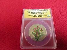 Ukraine coin 2016 Tallahassee Ladys Slipper Orchid ANACS PF68 ultra rare low pop