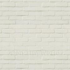 Dolls House Miniature White Painted Brick Pattern Cladding