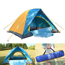 2 Man 4 Season Camping Hiking Climbing Double Layer Backpacking Tent w/ Bag