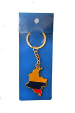 COLOMBIA COUNTRY SHAPE FLAG METAL KEYCHAIN .. NEW