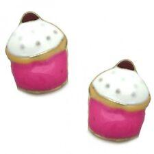 Ladies Earrings - Cupcake Stud Earrings - Brand New