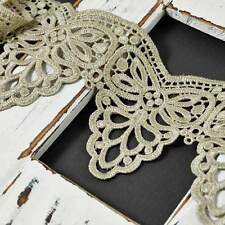 Ivory Venise Lace Ribbon Trim, 4 Inch by 1-Yard, SP-2392