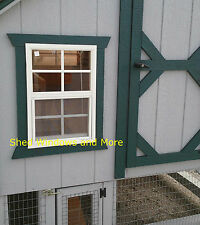 Chicken Coop Windows 14X21 White Flush #CP1421WF, Shed Window