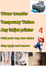 4 x Tattoo Transfer Paper A4 Sheet temporary tattoo water transfer type tattoo