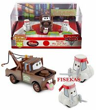 Disney Store Cars Die Cast Wasabi Mater Sreamin & Hollerin & 2 Sushi Chefs NEW