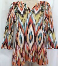 CHICO'S Southwest Style Tunic Top FALL COLORS Lightweight Shirt Sz 0= 4/6
