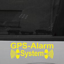 2 Pezzi Allarme GPS sistema avviso giallo Adesivo Tatuaggio Pellicola per esterno