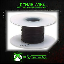 KYNAR WIRE - BLACK - 5 Meters / 15 Feet - Xbox Wii PS3 360 Mod Modding Wrapping