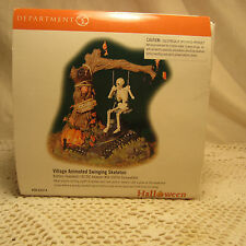 Dept 56 Village Animated Swinging Skeleton Battery Operated Halloween Series