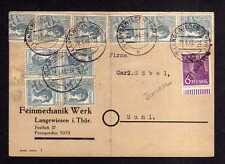 h1631 Handstempel Bezirk 16 Ilmenau + Zehnfach Langewiesen Feinmechanik Werk