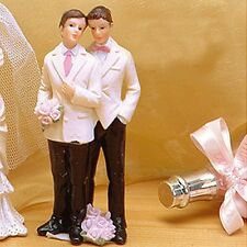 Gay Wedding Cake Topper Romance Male Partner Couple Centerpiece Favor Gift