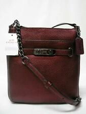 $195 NWT COACH PEBBLE LEATHER METALIC CHERRY SWAGGER SWINGPACK CROSSBODY 36502