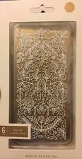 Rifle Paper Co Apple iPhone 6 6S Clear White Foil Lace Case New In Box