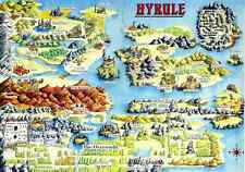 The Legend of Zelda Hyrule - Wall Poster - 22in x 34in ( Fast shipping )