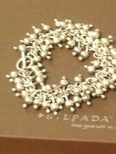 SILPADA .925 Sterling Silver CHA-CHA BRACELET Bead Toggle Clasp~B0919  Retired!