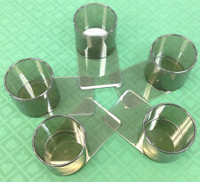 DRINK HOLDERS - 5 POKER PLASTIC SLIDE UNDER FOR CAN BOTTLE GLASS - FREE S/H *