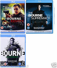 JASON BOURNE COLLECTION TRILOGY Blu Ray 3 Movies Identity Supremacy Ultimatum UK