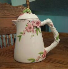 FITZ AND FLOYD CHERRY BLOSSOM TEAPOT!  NEW!