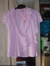 LADIES PINK CROSSOVER TOP SIZE 18