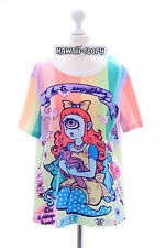 T-15 Lolita t-shirt funky Monster Girl Rainbow Harajuku Japan Fashion kawaii