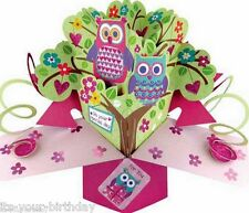 Owls On Your Special Day Pop-Up Greeting Card