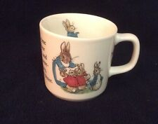 Vintage Wedgwood Beatrix Potter Peter Rabbit Child's Cup Mug Frederick Warne