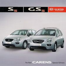 Kia Carens S5 & GS5 Limited Editions 2007 UK Market Sales Brochure