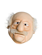 Adult Heckler Waldorf (Muppet Show) Fancy Dress Muppets Latex Overhead Mask BN