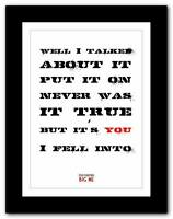 ❤  FOO FIGHTERS Big Me ❤ lyric typography poster art print A1 A2 A3 or A4