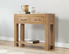 SOLID WOOD CHUNKY OAK LARGE LAMP TELEPHONE HALL CONSOLE TABLE