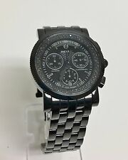 MICHELE SPORT SAIL NOIR BLACK FACE,BAND,DIAMONDS-.46CT+CHRONO WATCH MW01C02G4937
