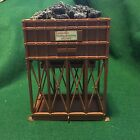 Vintage HO Scale Model Train Plastic Coal Loading Station Hopper & Coal Filled