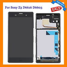 LCD Digitizer Screen +Frame Assembly For Sony Xperia Z3 D6603 D6643 D6653 D6616