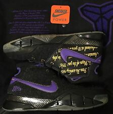 Nike Zoom Kobe Bryant 1 I Promo Sample Stash Pack sz 9 Black Purple Nort Jacket
