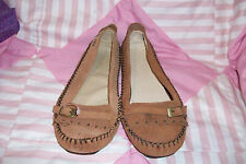 NEW Ladies Mocassins by Peach Mocassins, Size 6, Brown Leather,NEW Shoes,
