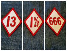 3 Diamond Patch set  1%er 13 666 outlaw biker rider Reaper Anarchy free shipping