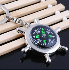 Portable Camping Sport Hike Mini Metal Rudder Keychain Compass Ring Outdoor