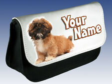 SHIH TZU PUPPY /DOG PERSONALISED PENCIL CASE/MAKE UP BAG -GREAT GIFT & NAMED TOO