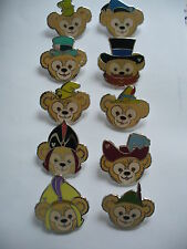 DISNEYS NEW 2013 HIDDEN  MICKEY SERIES DUFFY HAT COLLECTION 10 PIN COMPLETE SET